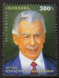 <font =1-831>831, Kirk Kerkorian, from World famous Armenians, Scott # <br>Date of Issue: December 14<br> <a href=&quot;/images/ArmenianStamps-831.jpg&quot;>   <font color=green><b>View the image</b></a></font>