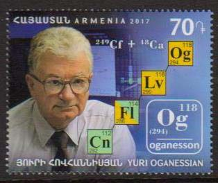 <font =1-838>838, Yuri Oganessian, Chemist, Scott # <br>Date of Issue: December 28<br> <a href=&quot;/images/ArmenianStamps-838.jpg&quot;>   <font color=green><b>View the image</b></a></font>