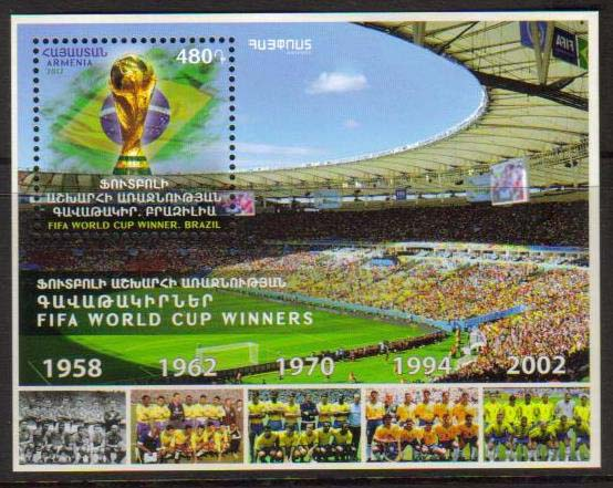 <font =1-840>840, FIFA World Soccer Cup Winners, a single Souvenir Sheet, Scott # <br>Date of Issue: December 29<br> <a href=&quot;/images/ArmenianStamps-840.jpg&quot;>   <font color=green><b>View the image</b></a></font>