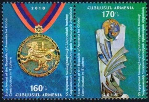 "<font =1-875>875-876, State Award for Global Contributions in IT, Scott #---- <br>Date of Issue: Nov 30<br> <a href=""/images/ArmenianStamps-875-876.jpg"">   <font color=green><b>View the image</b></a></font>"