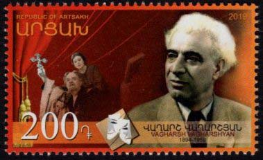 "<Font 1-189>Artsakh #189, Vagharsh Vagharshyan, 125th Birth Anniversary, a single stamp <br><a href=""/images/KA-189.jpg"">   <font color=green><b>View the image</b></a></font>"