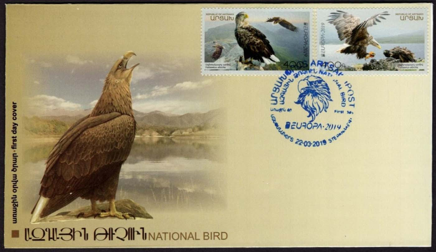 "<Font 3-190>Artsakh #190-191, Europa 2019, White-tailed eagle, the National Bird, Official FDC <br><a href=""/images/KA-190-191-FDC.jpg"">   <font color=green><b>View the image</b></a></font>"